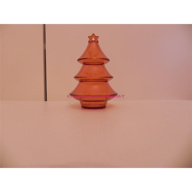 Geschenkbox Weihnachtsbaum - orange