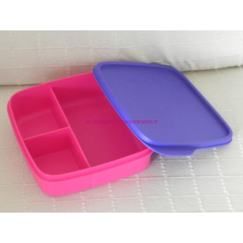 tupperware brotbox clevere pause pink lila biggis. Black Bedroom Furniture Sets. Home Design Ideas