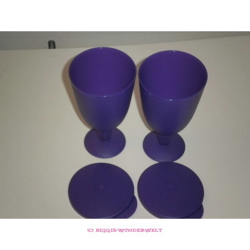 Tupperware Eisbecher - Riviera - 2er Set - lila