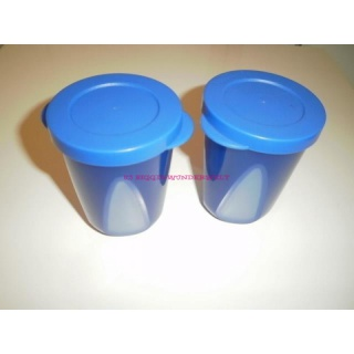 Tupperware Mediterrano Trinkbecher 330 ml 2er Set - blau