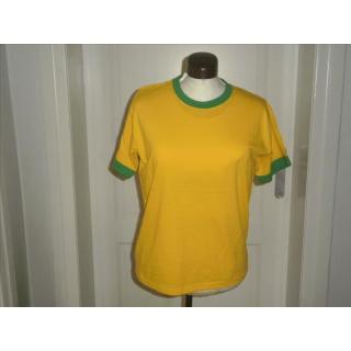 Promodoro Skinny-T Ladies Kurzarm - E 1070 Gold / Brazil-Green