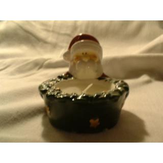 Teelicht - Weihnachtsmann - grün