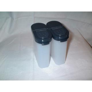 Tupperware Gewürz Riesen 270 ml 2er Set - schwarz