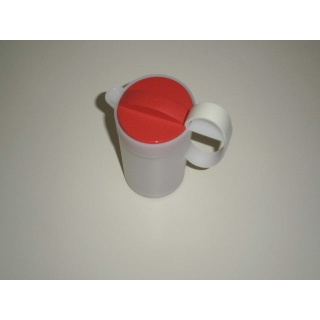 Tupperware Milchaufschäumer Crema Momenti - rot / weiß