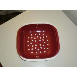 Tupperware Allegra Obstschale - rot / weiß