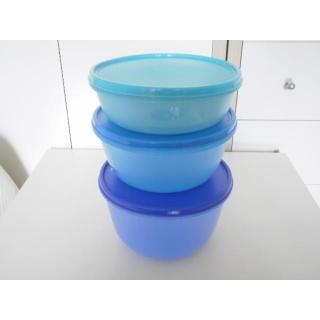 Tupperware Schüsselsatz Clarissa 3er Set - blau / grün