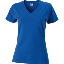 James Nicholson Damen Slim Fit V-Neck T-Shirt - XL /...