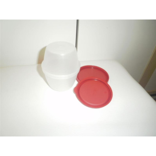 Tupperware Rumpelstilzchen - rot / transparent