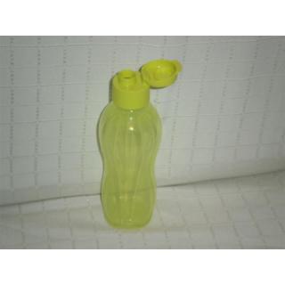 Tupperware Trinkflasche EcoEasy 750 ml mit Flip Top Deckel - gelbgrün