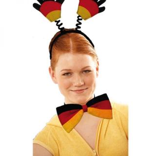 Fliege in Deutschlandfarben