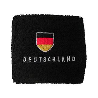 Deutschland Schweißband schwarz