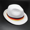 Stylischer Hut Weiß mit Deutschland Band