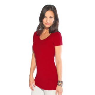 Promodoro Women´s Slim Fit V-Neck-T Long (E3087)