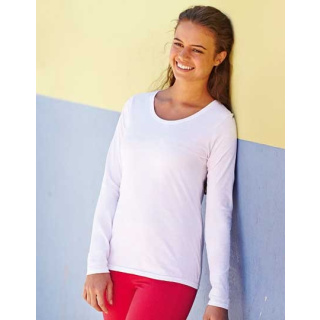 Fruit of the Loom Lady-Fit Valueweight Long Sleeve T (F242N)