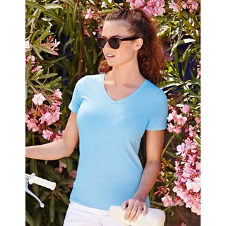 Fruit of the Loom Lady-Fit V-Neck T (F281N)