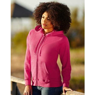 Fruit of the Loom Lady-Fit Lightweight Hooded Sweat Jacket (F408)