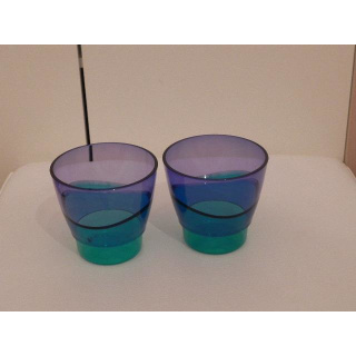 Tupperware Eleganzia Becher - blau / grün - 2er Set