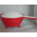 Tupperware Nudelsieb Saladin - rot / weiß