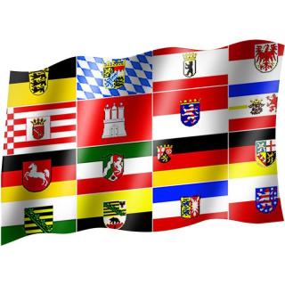 Länderfahne - 16 deutsche Bundesländer