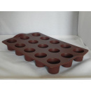 Tupperware Silikon Backform - Mini Muffin - braun