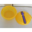 Tupperware Kleiner Salat & Go  - gelb