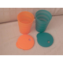 Tupperware Junge Welle Trinkhalm Becher 330 ml - orange /...