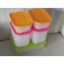 Tupperware Gefrier Set 5 teilig - Eis Kristall