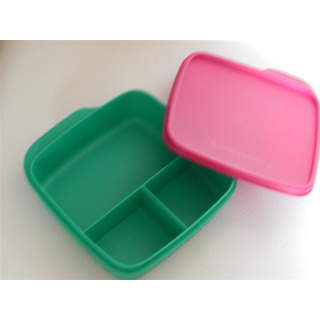 Tupperware Brotbox - Clevere Pause - grün / rot