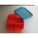 Tupperware Brotbox - Clevere Pause - orange / grün