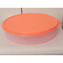 Tupperware Gefrier Tortenbehälter /  Eisscholle - orange