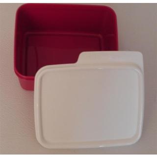 Tupperware Frische Box - Weihnachts Ecke 500 ml  - rot / weiß