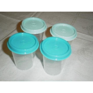 Tupperware Vier Wichtel 50 ml 4er Set - mintgrün / türkis
