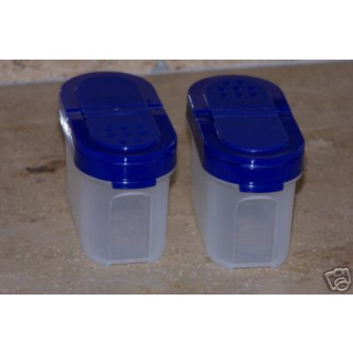 Tupperware Gewürz Zwerge 120 ml 2er Set - blau