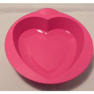 Tupperware Silikon Backform - Herz - pink
