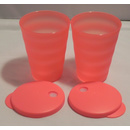 Tupperware Junge Welle Trinkhalm Becher 330 ml - rot