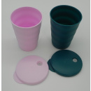 Tupperware Junge Welle Trinkhalm Becher 330 ml - rosa /...