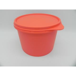 Tupperware Kaffee Behälter 1,1 Liter - runde Frischhalte Dose - lachs